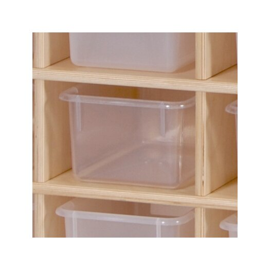 Steffy Wood Products 10 Section Wall Locker with Tray