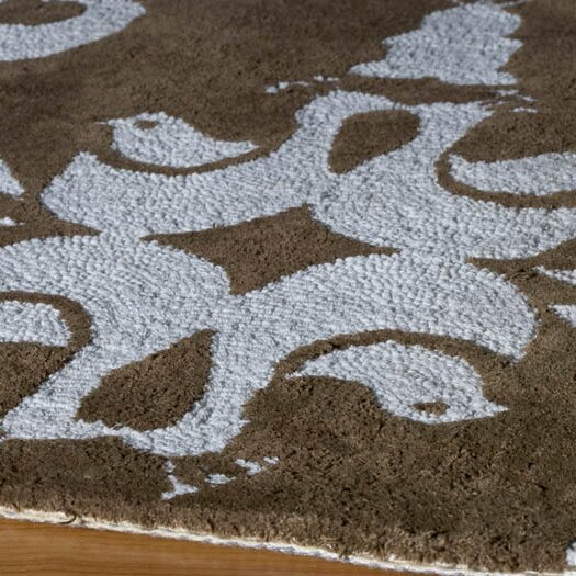 Momeni Lil' Mo Classic Brown / Baby Blue Area Rug