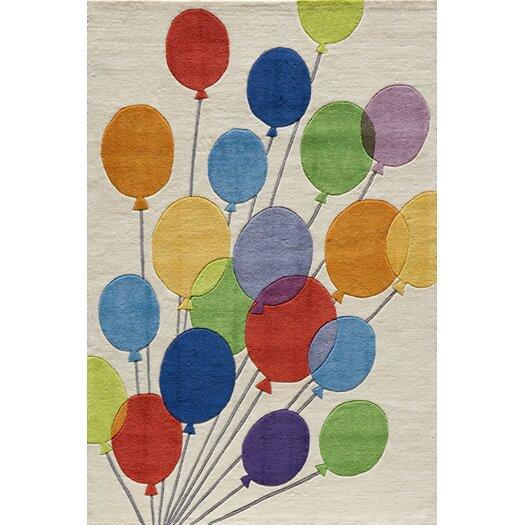 Momeni Lil' Mo Lil Mo Whimsy Balloon Kids Rug