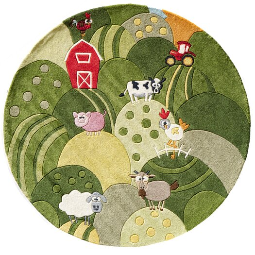 Momeni Lil' Mo Whimsy Grass Green Area Rug