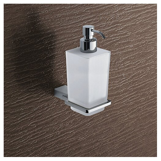 Gedy by Nameeks Kansas Wall Mounted Glass Soap Dispenser