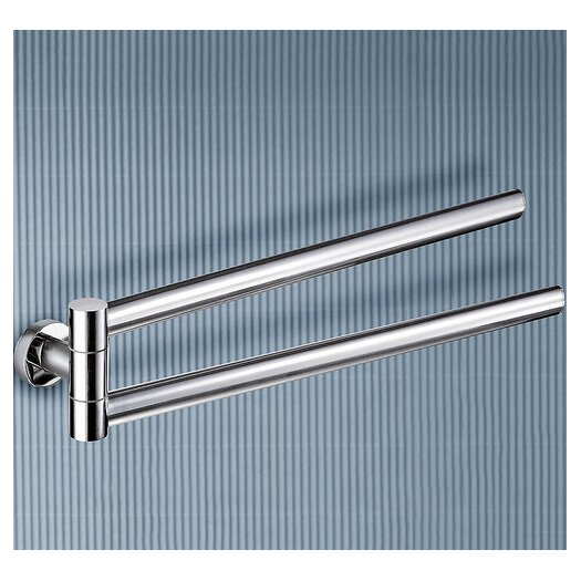 "Gedy by Nameeks Demetra 17.1"" Wall Mounted Jointed Double Towel Bar"