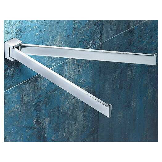 "Gedy by Nameeks Glamour 12.6"" Wall Mounted Jointed Double Towel Bar"