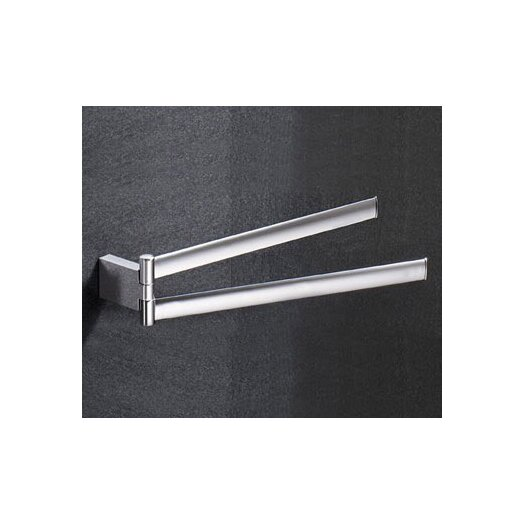 "Gedy by Nameeks Kent 14.4"" Wall Mounted Jointed Towel Bar"