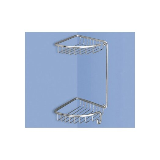 "Gedy by Nameeks 5"" Corner Shelf in Chrome"