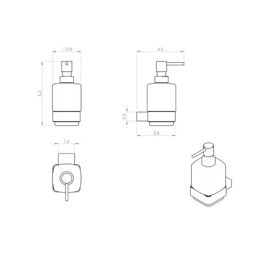 Gedy by Nameeks Lounge Soap Dispenser