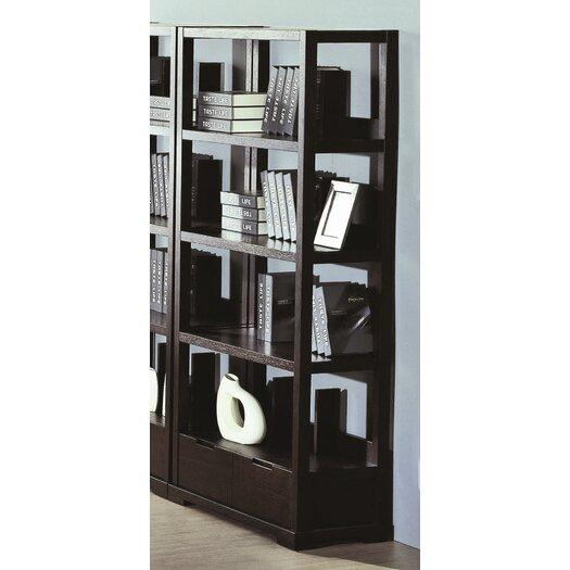 "Beverly Hills Furniture Parson 73"" Bookcase"