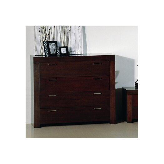 Beverly Hills Furniture Traxler 4 Drawer Traxler Dresser