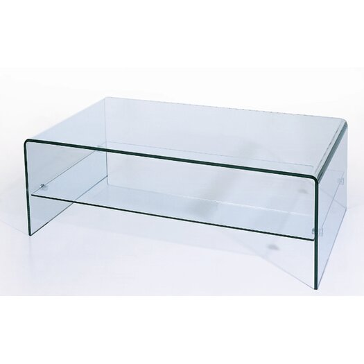 Beverly Hills Furniture Ryder Coffee Table with Storage Shelf