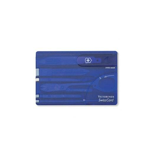 Victorinox Swiss Army SwissCard Multi-Function Pocket Tool in Translucent Sapphire