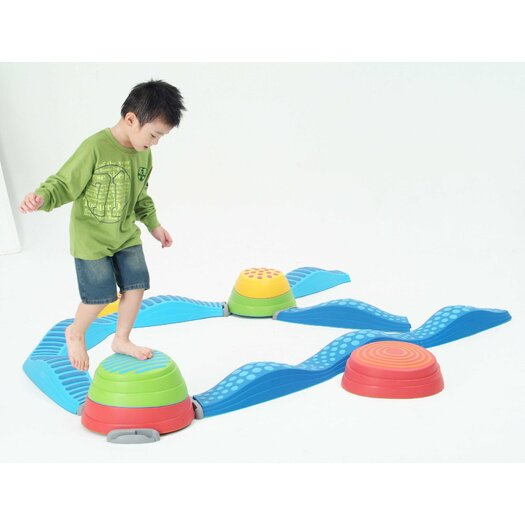 Weplay Connectors for the Rainbow River Stones and Wavy Tactile Path (6 Pieces / Set)