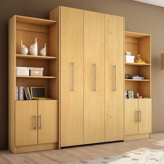 Stellar Home Furniture Esa Twin Storage Wall Bed