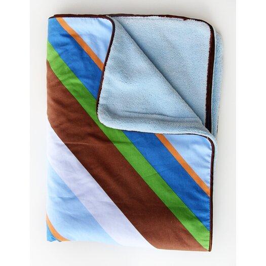 Caden Lane Boutique Diagonal Stripe Piped Blanket
