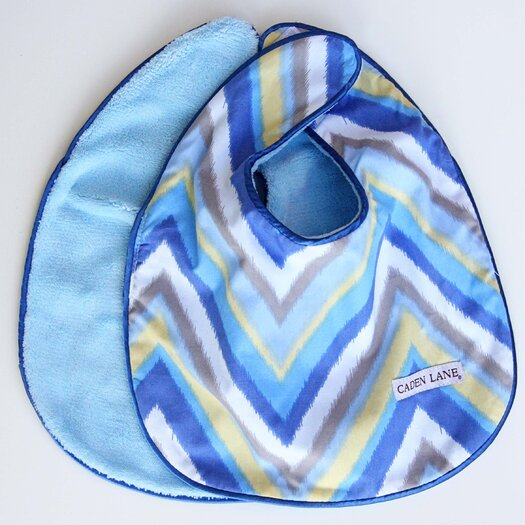Caden Lane Ikat Chevron Bib Set