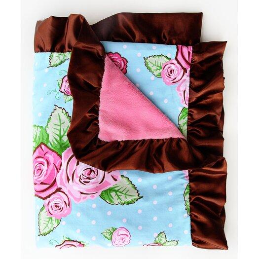 Caden Lane Boutique Rose Dot Ruffle Blanket