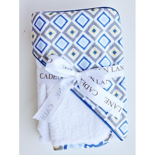 Caden Lane Ikat Diamond Hooded Towel Set