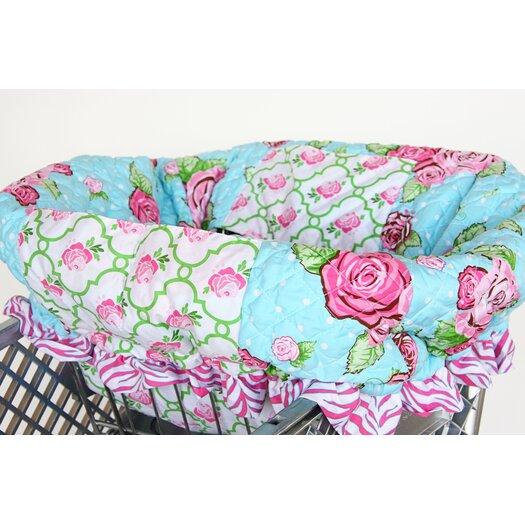 Caden Lane Boutique Rose Dot Shopping Cart Cover