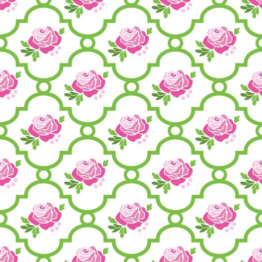 Caden Lane Boutique 230 Thread Count Rose Lattice Single Sheet