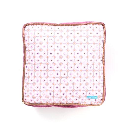 Caden Lane Modern Vintage Pink Square Cotton Pillow