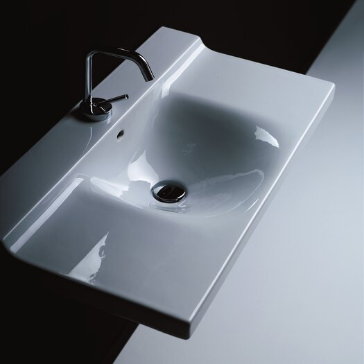 WS Bath Collections Buddy Ceramic Wall Mounted Bathroom Sink