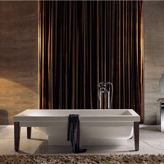 "WS Bath Collections Bentley 70.1"" x 20.5"" Crystal-tech Bathtub"