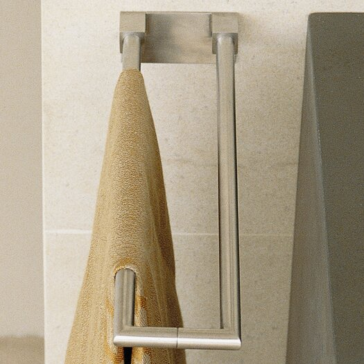 """WS Bath Collections Metric 3.5"""" Wall Mounted Double Side Towel Bar"""