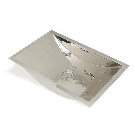 WS Bath Collections Metal Rectangle Bathroom Sink