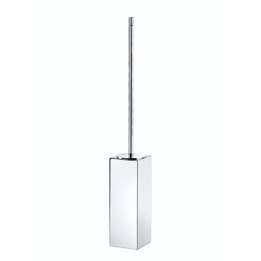 """WS Bath Collections Metric 23.2"""" x 3.1"""" Free Standing Toilet Brush Holder in Polished Chrome"""