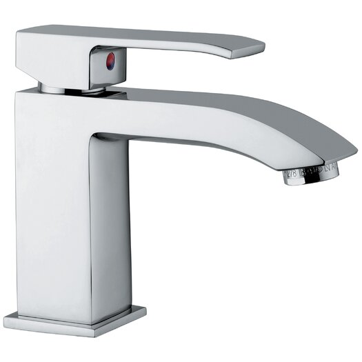 WS Bath Collections Linea Single Hole Bathroom Faucet with Single Handle
