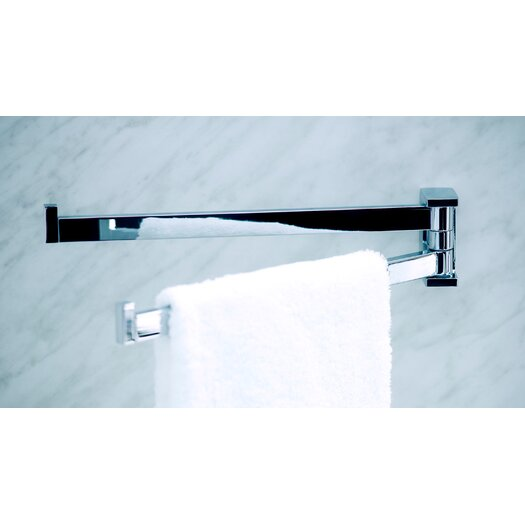 "WS Bath Collections Urban 14.2"" Wall Mounted Double Towel Bar"