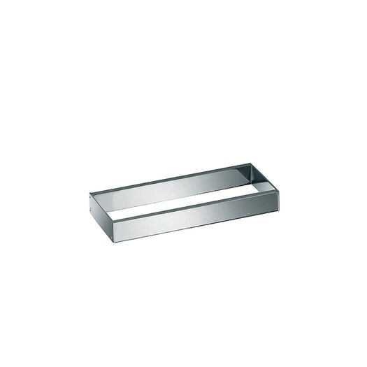 "WS Bath Collections Skuara 7.9"" Toilet Rail/Bracket in Polished Chrome"