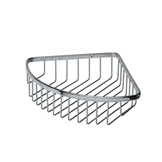 """WS Bath Collections Filo 7.7"""" x 6.7"""" Shower Basket in Polished Chrome"""