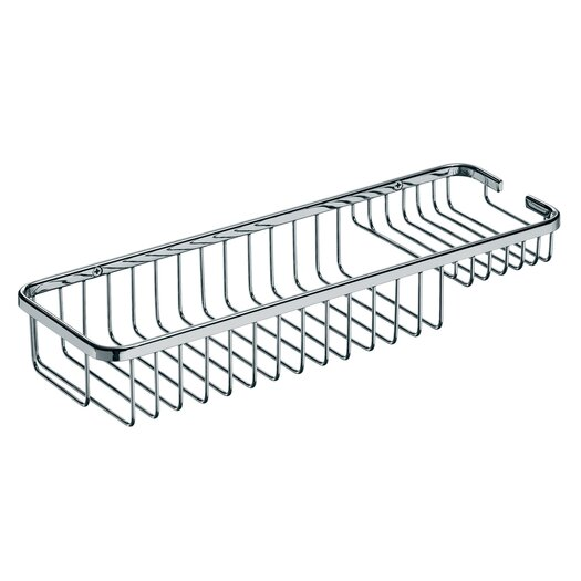 """WS Bath Collections Filo 15.7"""" x 5.5"""" Shower Basket in Polished Chrome"""