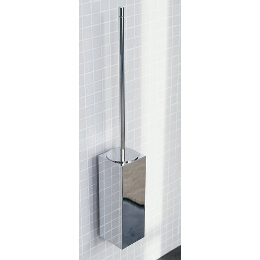 """WS Bath Collections Metric 23.2"""" x 3.5"""" Wall Toilet Brush Holder in Polished Chrome"""