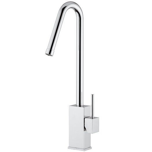 "WS Bath Collections Level 16.2"" One Handle Single Hole Kitchen Faucet with Swivel Spout"