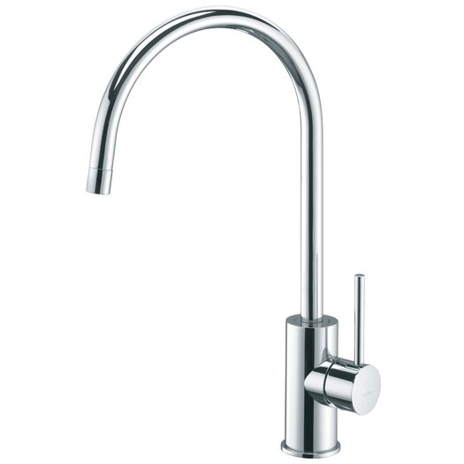 """WS Bath Collections Light 14.3"""" One Handle Single Hole Kitchen Faucet with High Swivel Spout"""