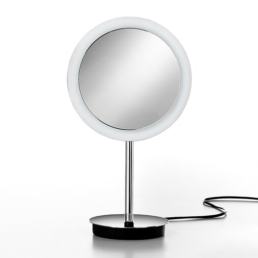 WS Bath Collections Mirror Pure Mevedo 3X Magnifying Makeup Mirror with Lighting