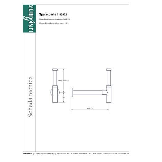 WS Bath Collections Linea Decorative Trap