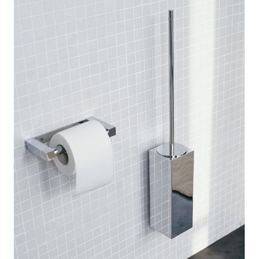 WS Bath Collections Metric Wall-Mount Toilet Brush Holder