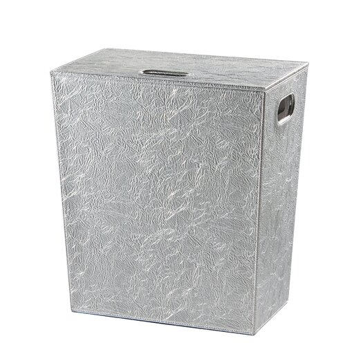 WS Bath Collections Complements Perle Hamper with Lid