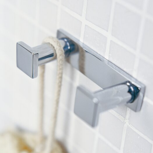 WS Bath Collections Metric Wall Mounted Double Hook