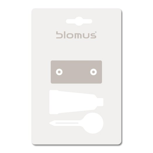 Blomus Sento Wall Mount Toilet Brush with Wall Mounting Kit
