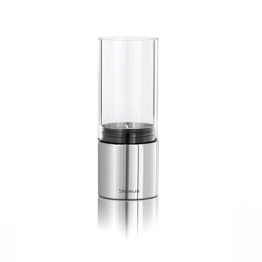 Blomus Faro Wide Steel and Glass Hurricane