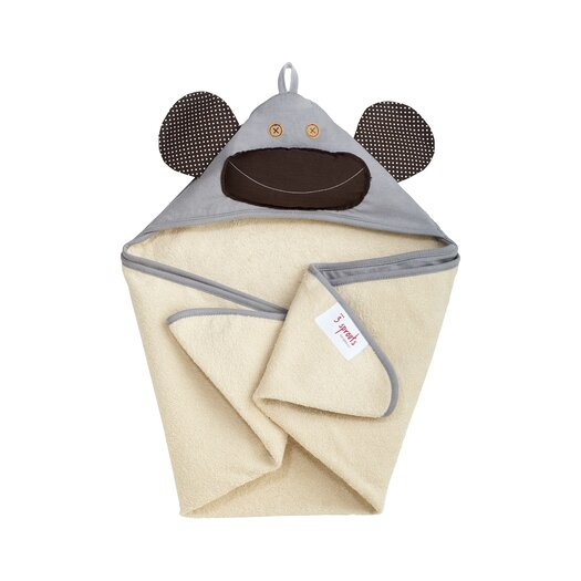 Gray Monkey Hooded Towel