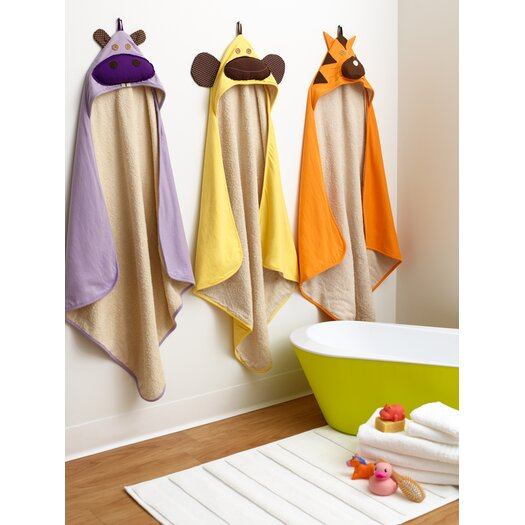 3 Sprouts Yellow Monkey Hooded Towel