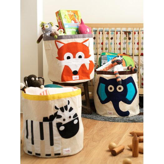 3 Sprouts Zebra Kids Storage Bin