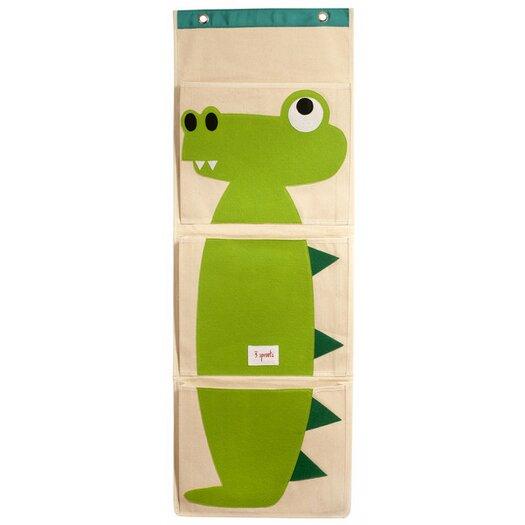 3 Sprouts Crocodile Wall Toy Organizer