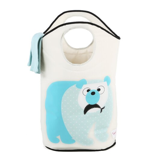 3 Sprouts Polar Bear Laundry Hamper