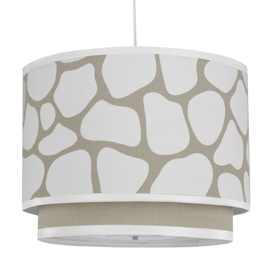 Oilo Cobblestone 3 Light Double Cylinder Drum Pendant