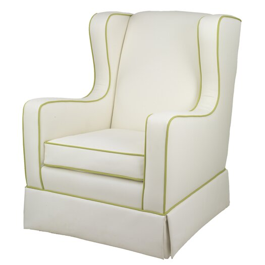 Oilo Penelope Glider - White Faux Leather
